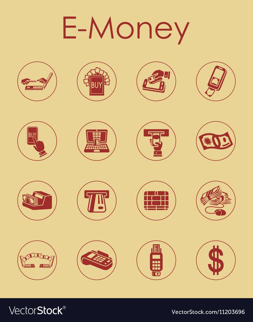 Logo E Money Vector : money, vector, E-money, Simple, Icons, Royalty, Vector, Image