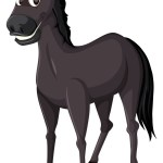 A Black Horse On White Background Royalty Free Vector Image