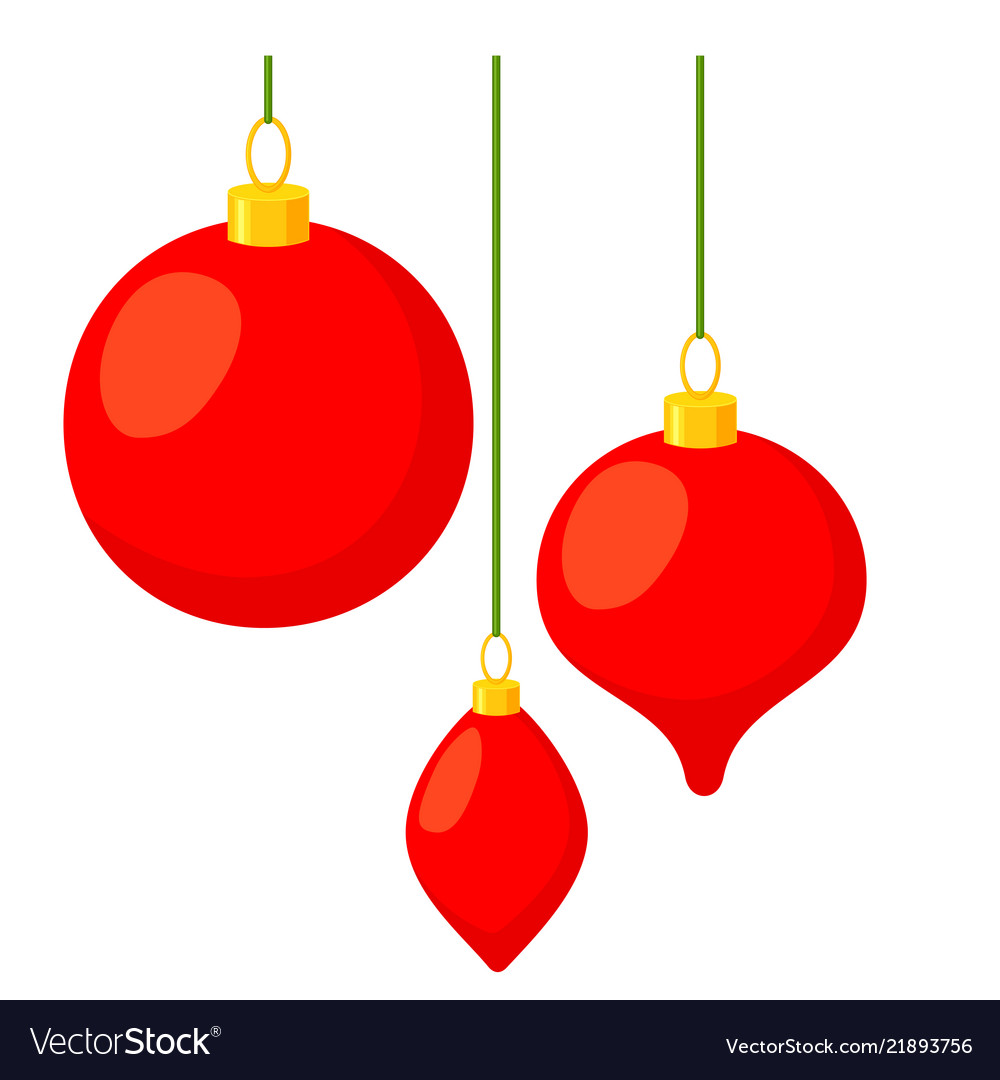 Colorful Cartoon Christmas Tree Decorations Vector Image
