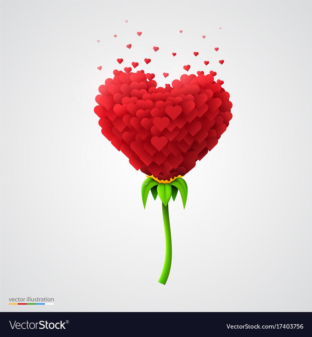 heart shaped flower built