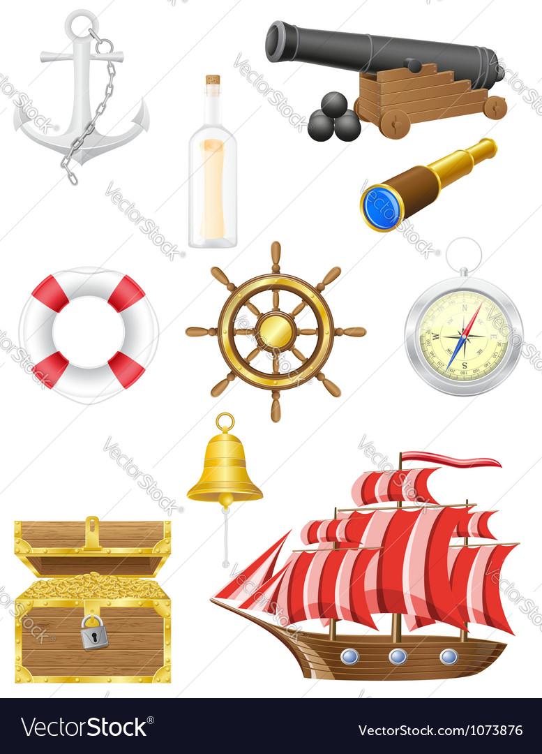 set of sea antique