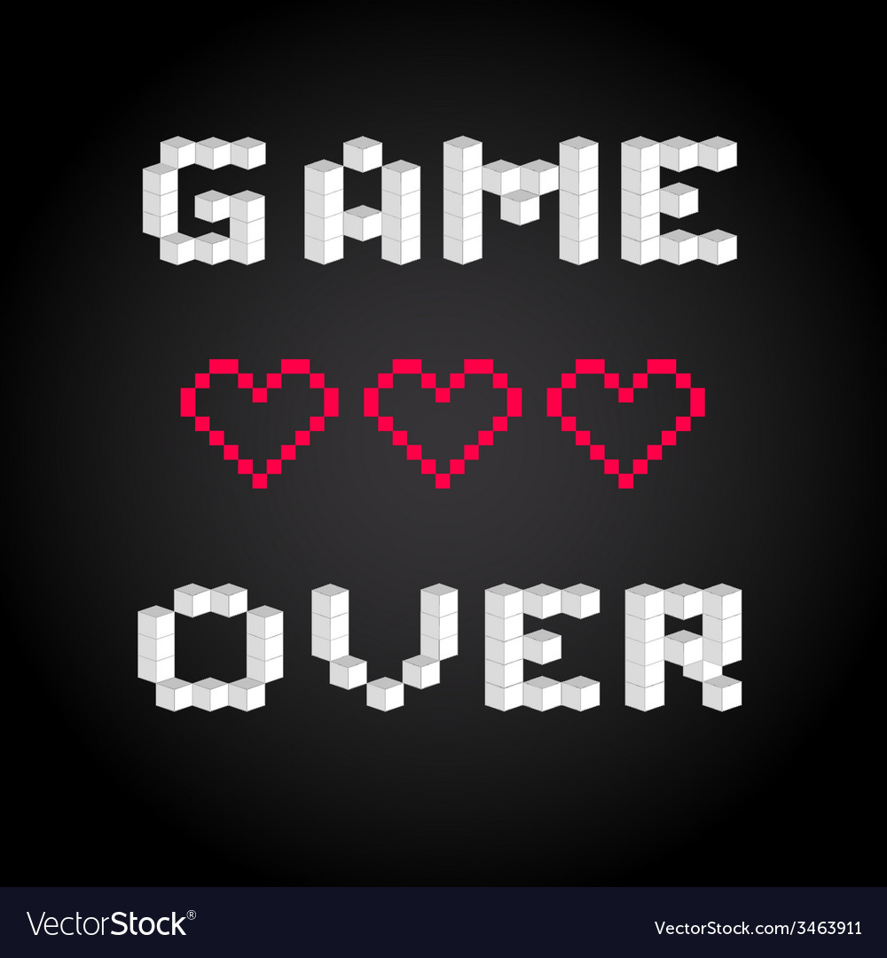 game over screen old