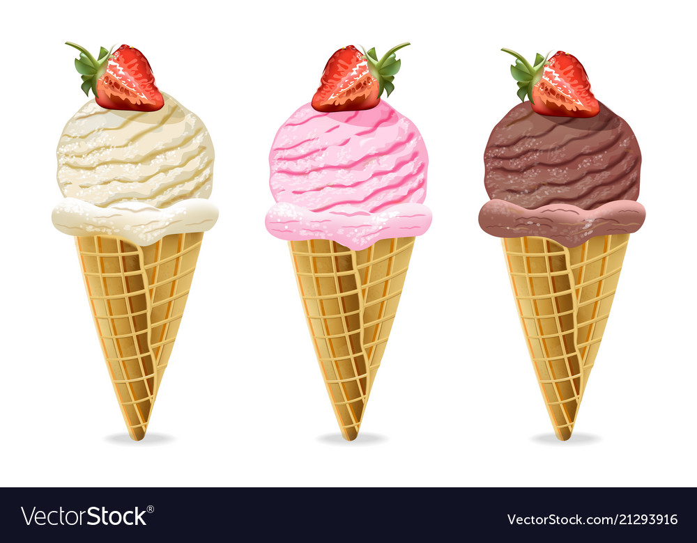 ice cream cones chocolate
