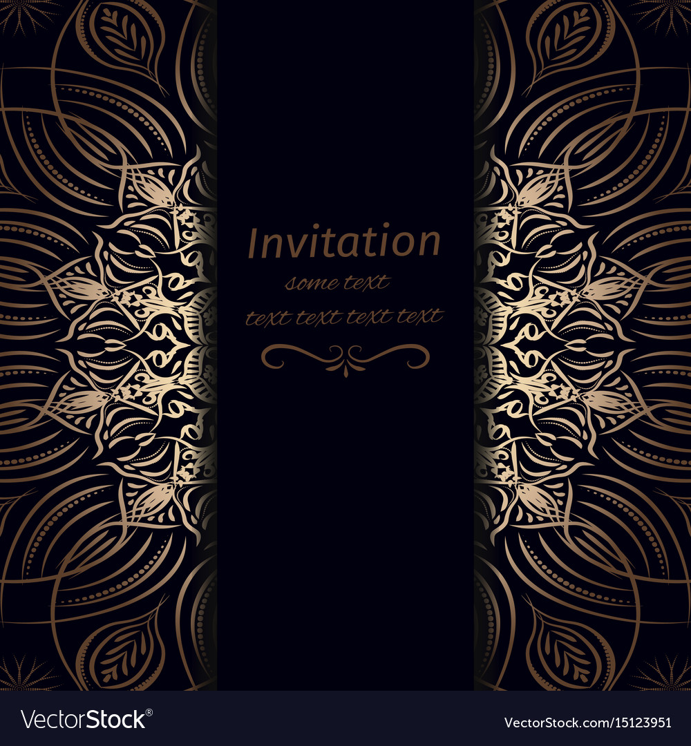 invitation in dark blue