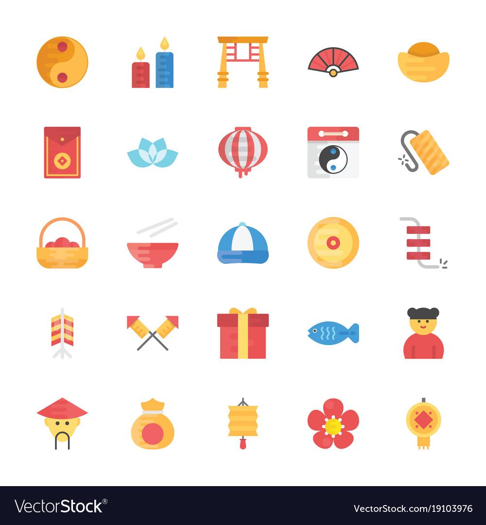 flat icons set of