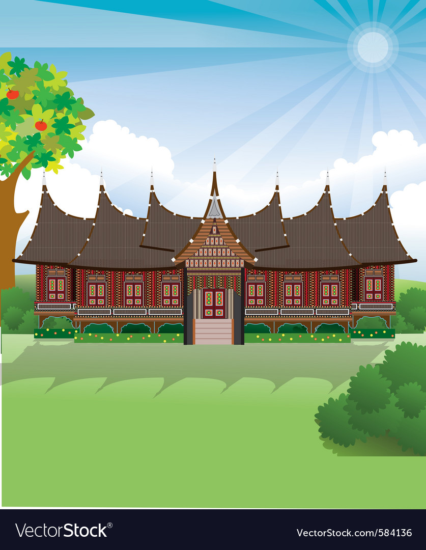 Rumah Gadang Vector Png : rumah, gadang, vector, Padang, Vector, Images
