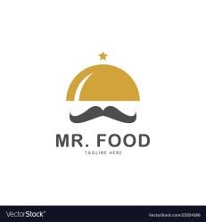 Restaurant logo template mr food logo Royalty Free Vector