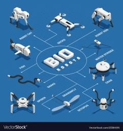 bio robots isometric flowchart vector image [ 1000 x 1080 Pixel ]