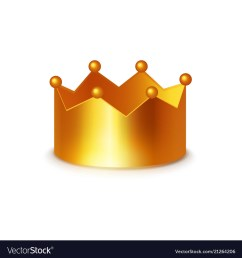 golden crown clipart on white vector image [ 1000 x 1080 Pixel ]