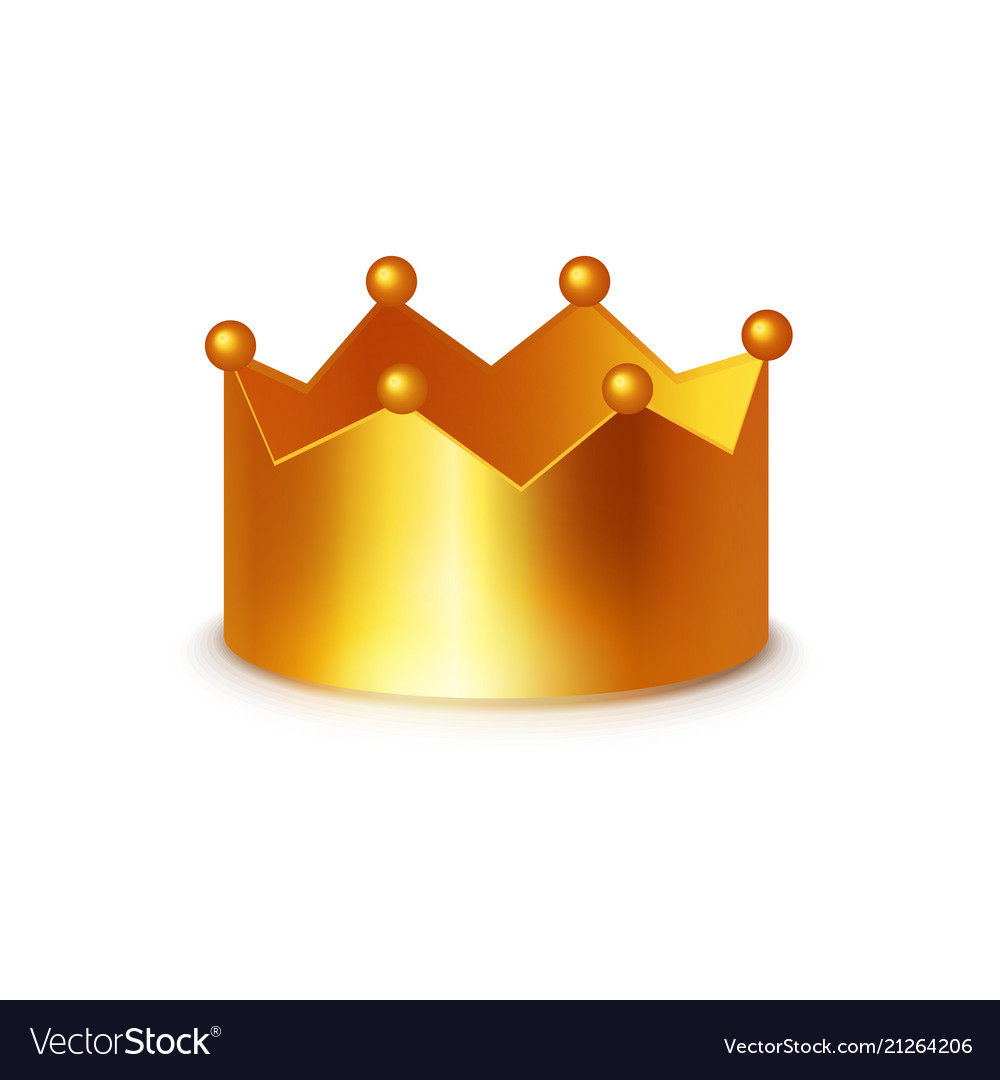 medium resolution of golden crown clipart on white vector image