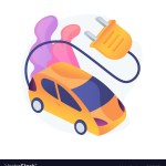 Electric Vehicle Use Abstract Concept Royalty Free Vector