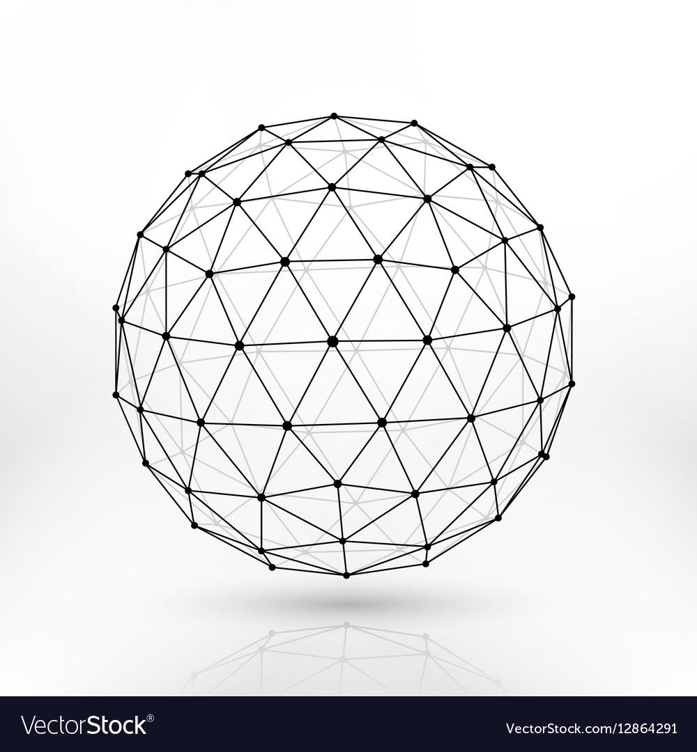 wireframe polygonal sphere network