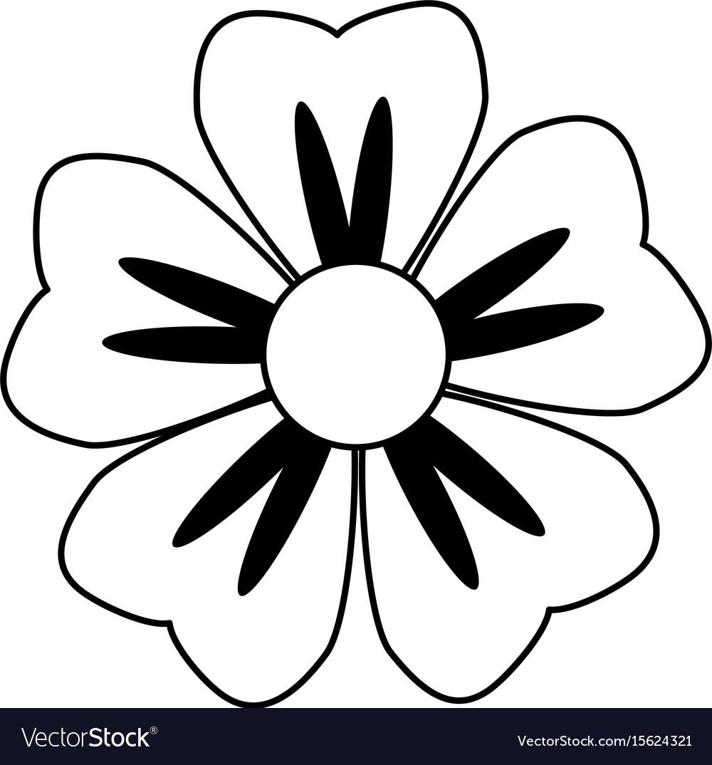 cartoon flower in black