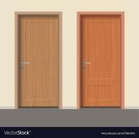 Wooden door set interior apartment closed door Vector Image