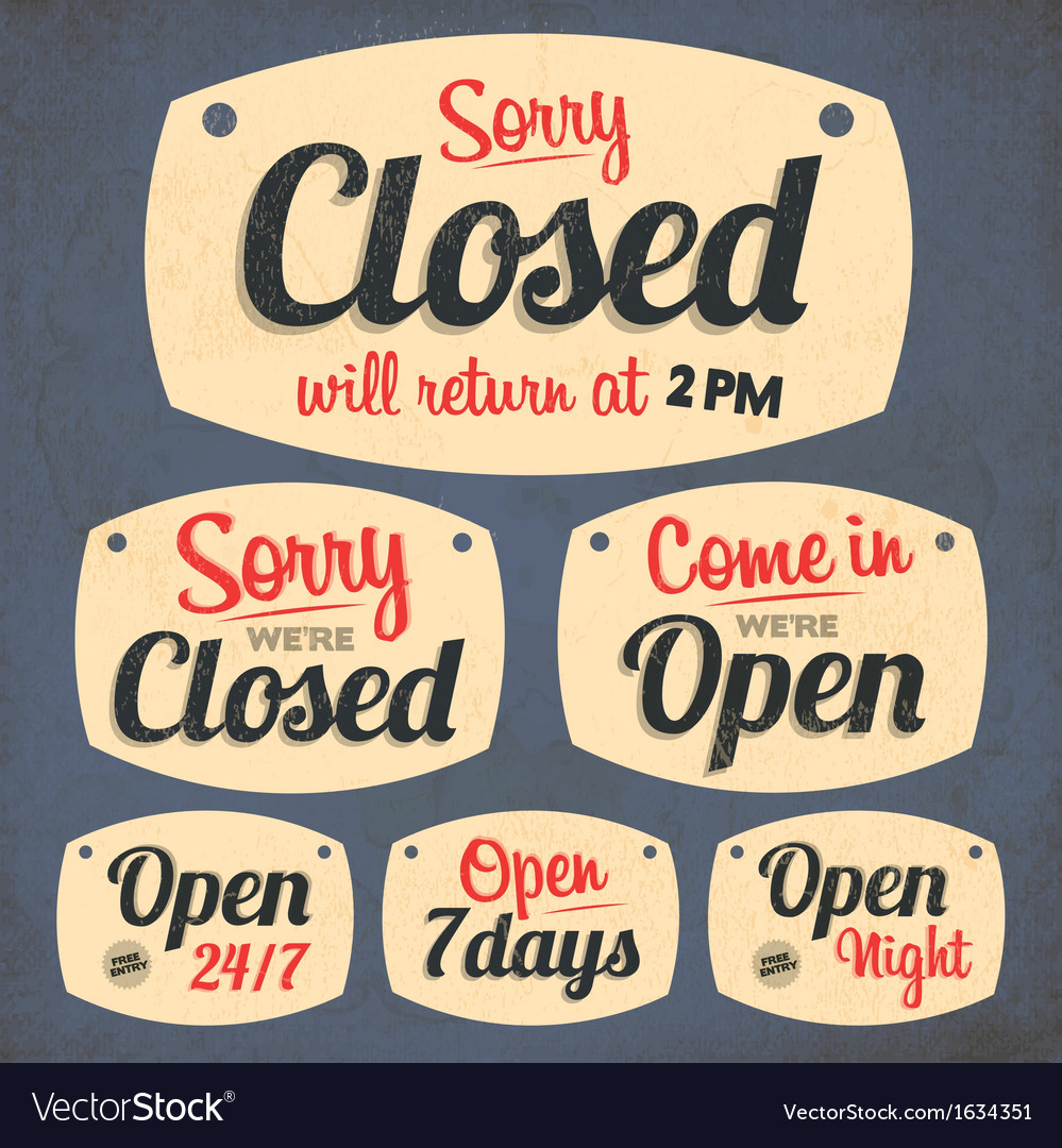172retro vintage open closed