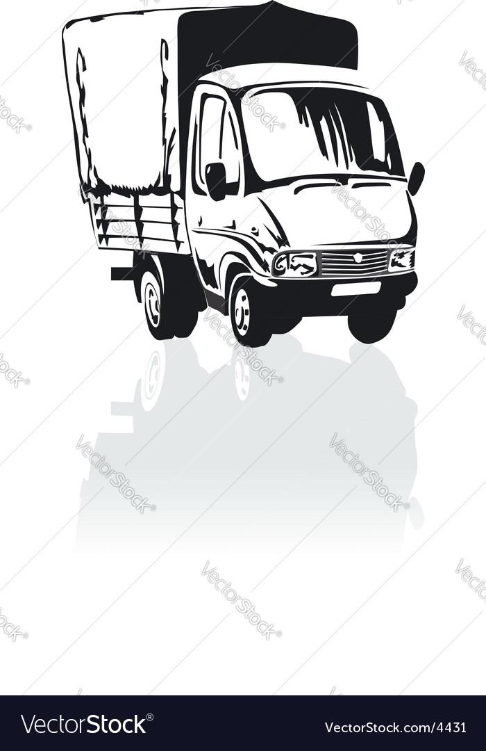 Moving Van Cartoon : moving, cartoon, Cartoon, Cargo, Truck, Royalty, Vector, Image, VectorStock