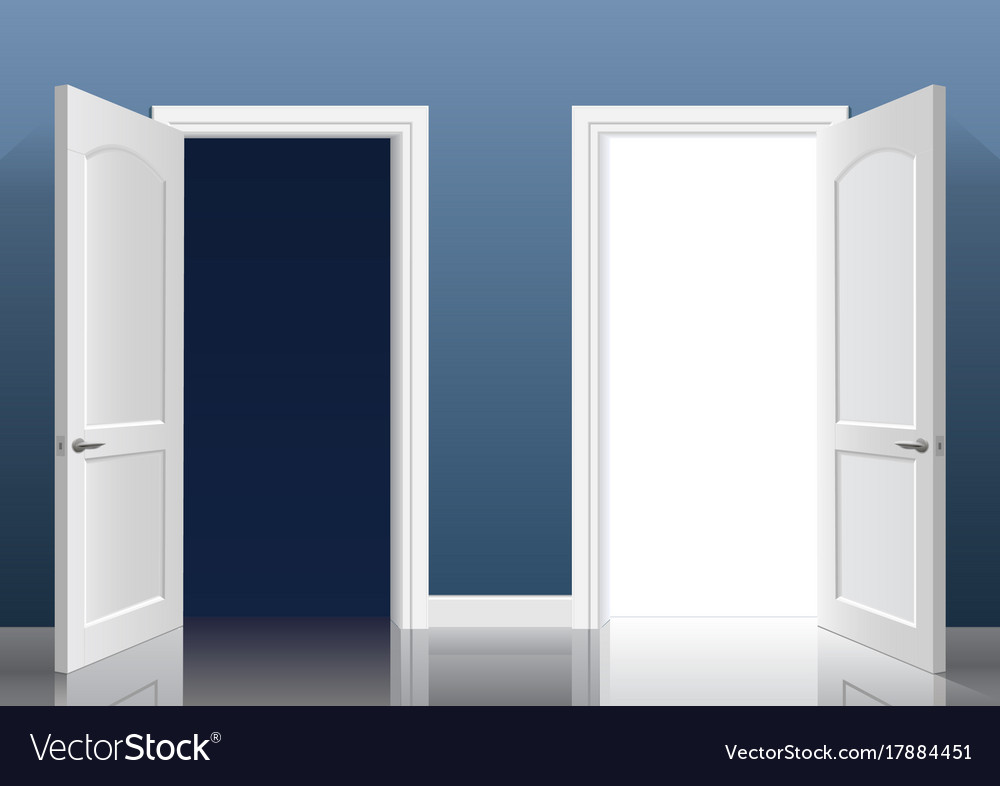 two open doors