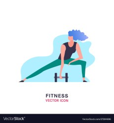 Women fitness icon Royalty Free Vector Image VectorStock