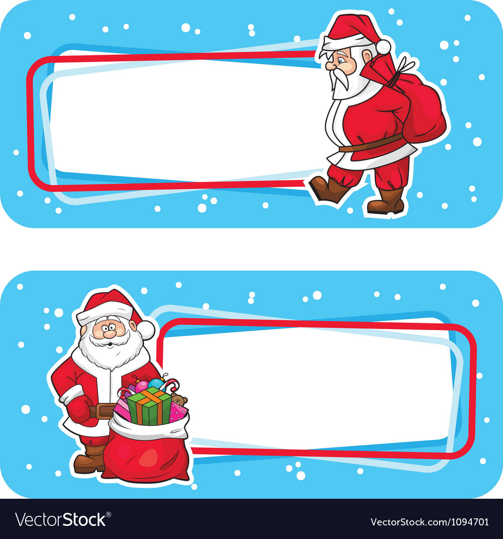 christmas labels with santa