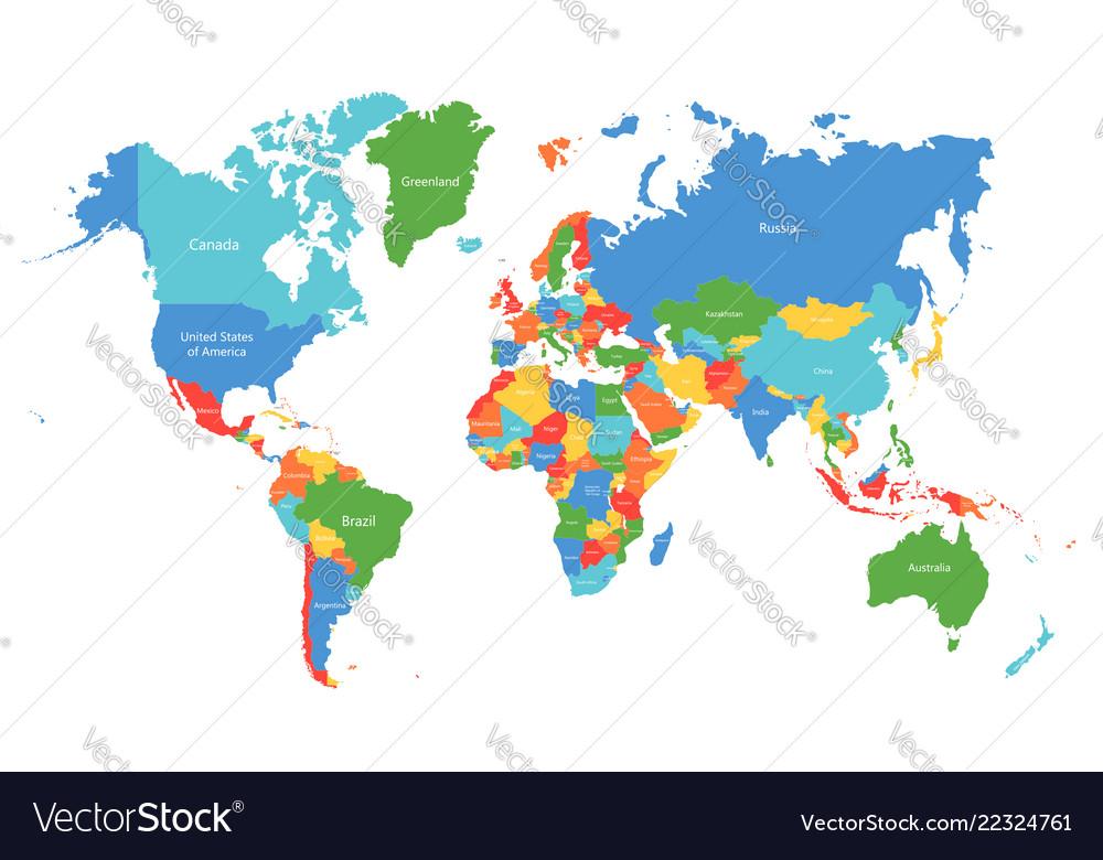 world map colorful world