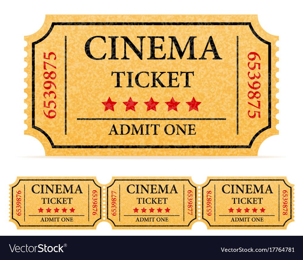 cinema ticket stock
