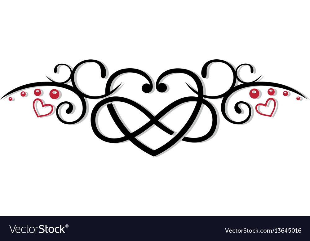 Download Infinity heart love Royalty Free Vector Image - VectorStock