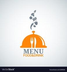Menu design food drink dishes background Vector Image