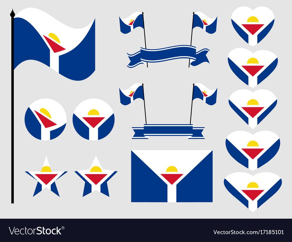 sint maarten flag set