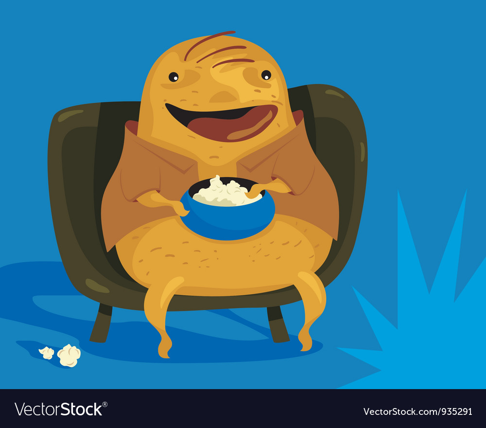 hight resolution of couch potato clipart