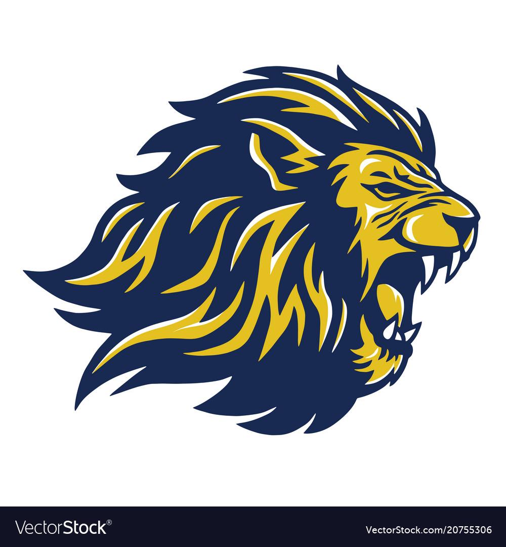 wild lion head mascot