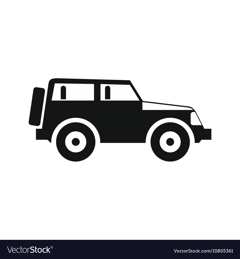 jeep icon in simple