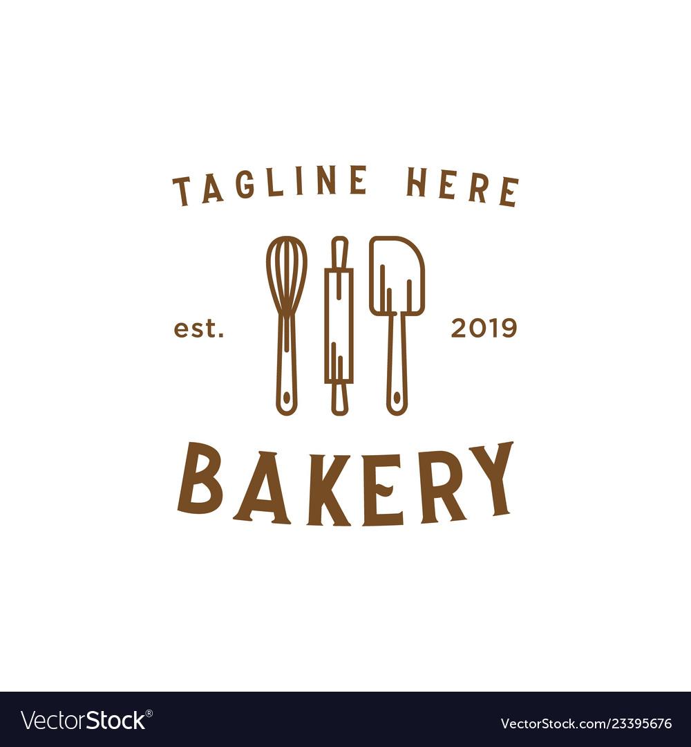 Bakery Line Vintage Logo Design Inspiration