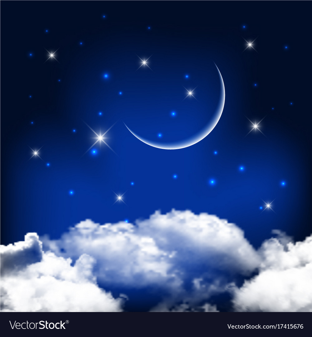 night sky background with