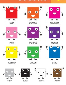 Kids basic colors chart vector image also royalty free rh vectorstock