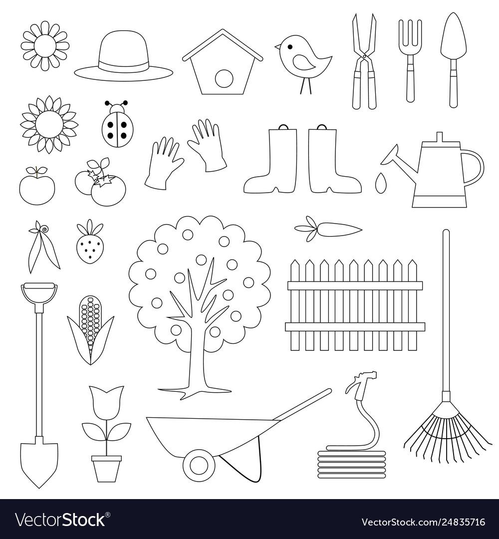 gardening digital stamps