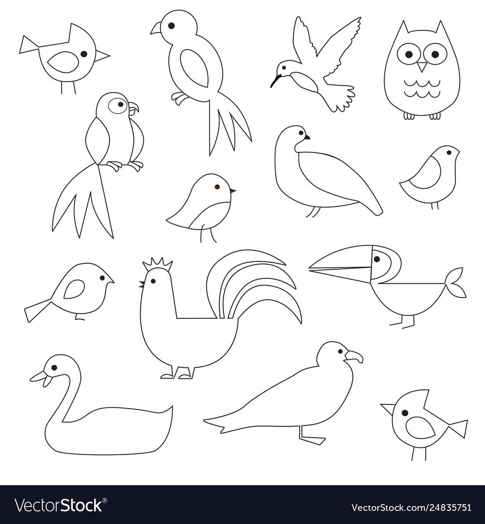 birds digital stamps