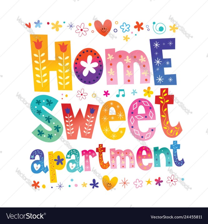 Sweet Apartment Royalty Free Vector Image