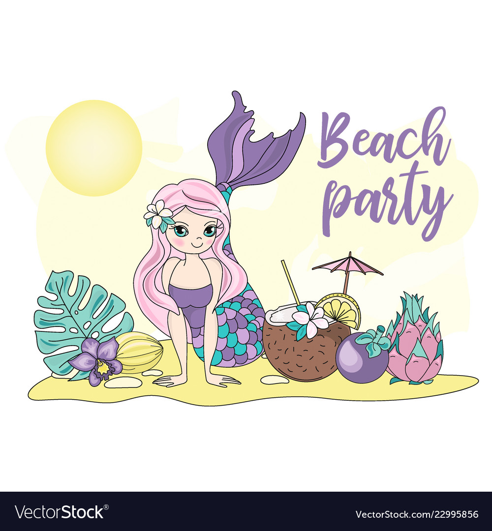 hight resolution of beach party sea travel clipart color vector image