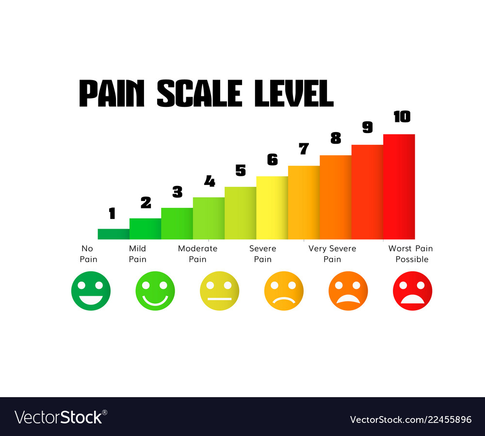 hight resolution of pain scale chart vector image