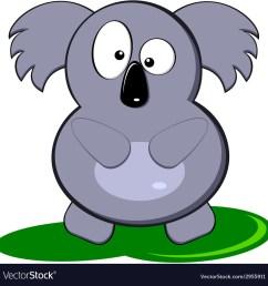 cartoon of cute gray koala bear vector image [ 1000 x 1026 Pixel ]