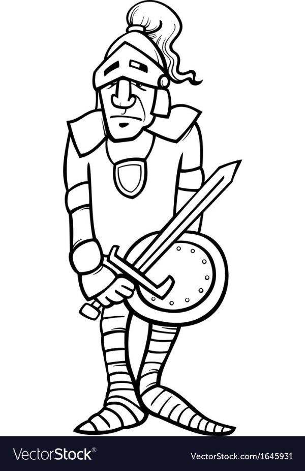 knight coloring page # 58