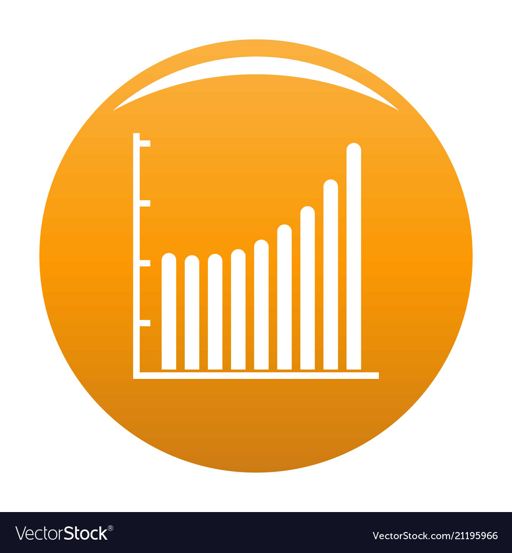 hight resolution of business diagram icon orange vector image
