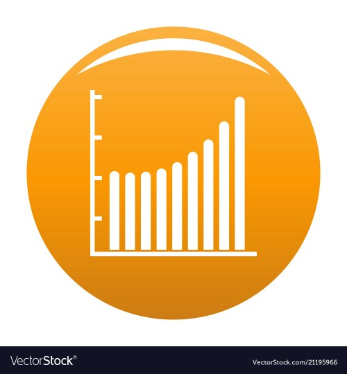 small resolution of business diagram icon orange vector image