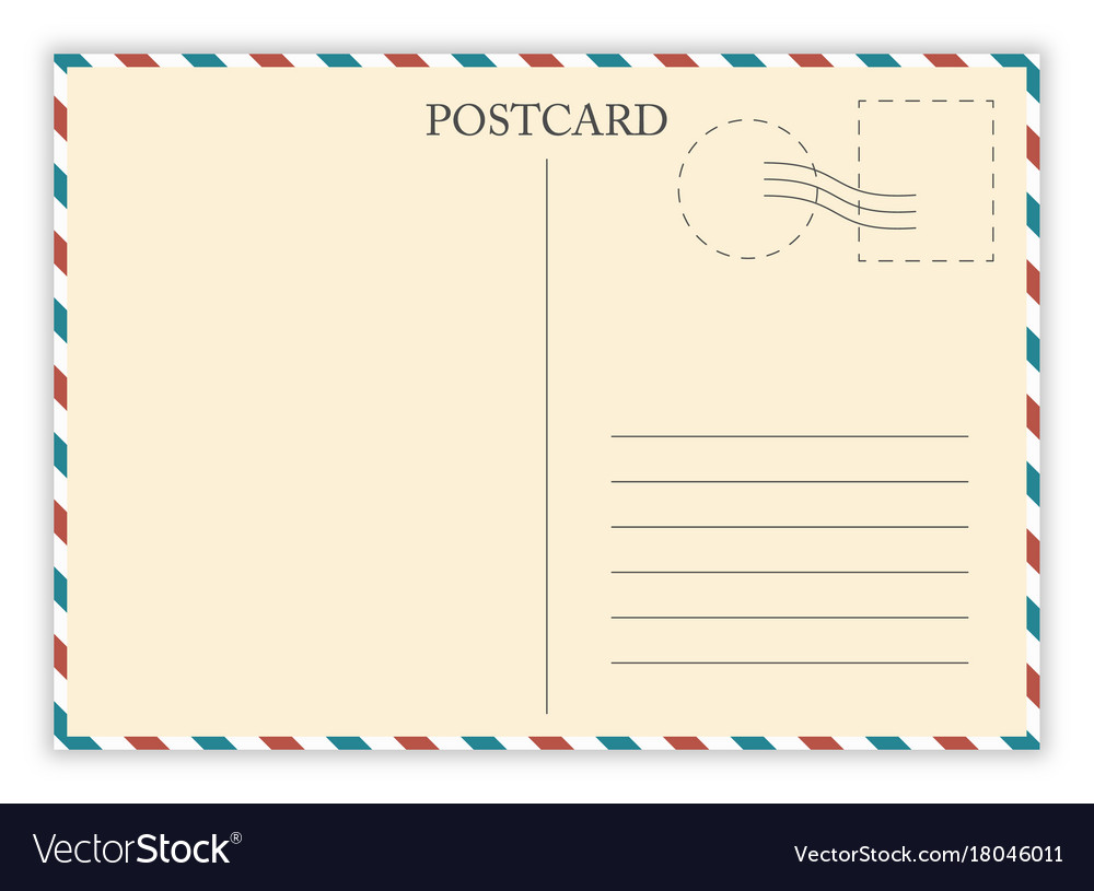 air mail postcard template
