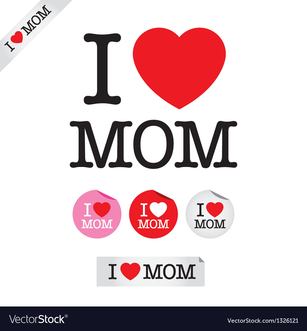 Download Happy mothers day i love mom Royalty Free Vector Image