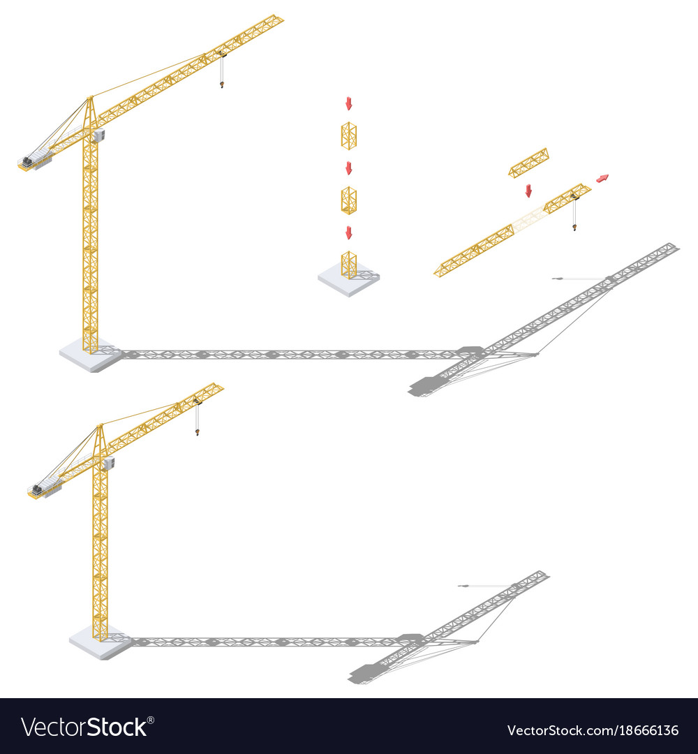 hight resolution of tower crane diagram