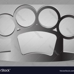 Brass Knuckles Diagram Vw Golf Mk4 Engine Knuckle Royalty Free Vector Image Vectorstock