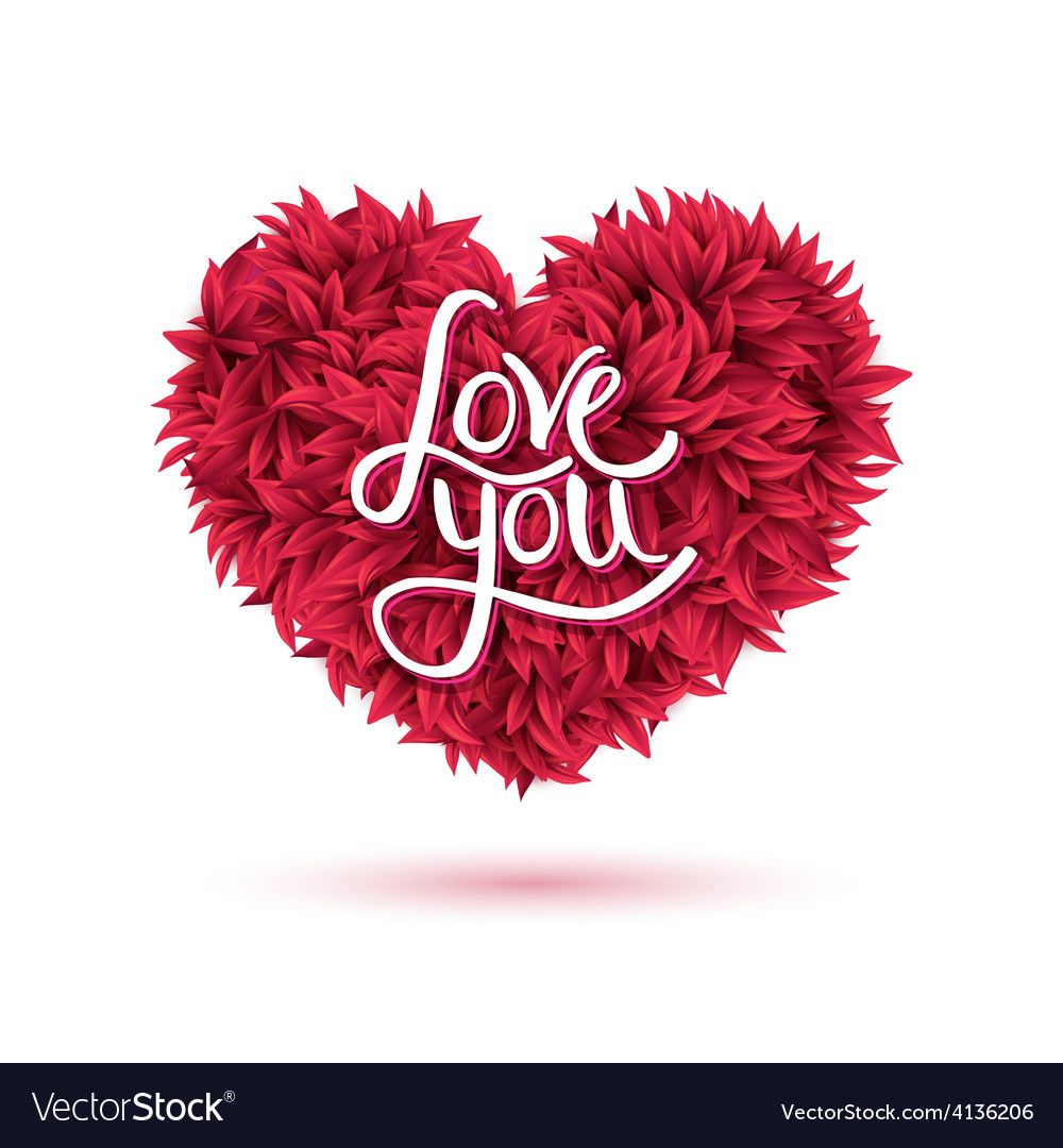 love you message on