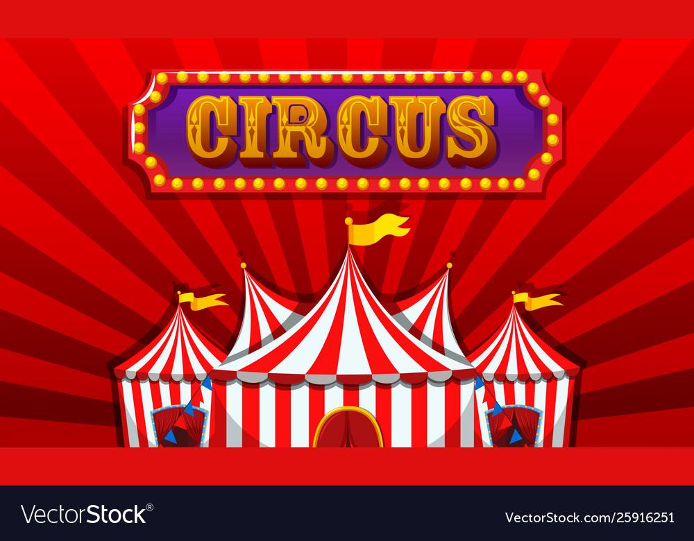 a fantasy circus banner