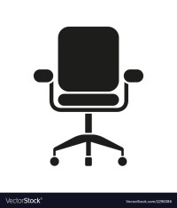 Office Chair Icon Royalty Free Vector Image - VectorStock